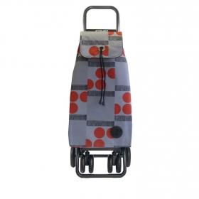 Carro de compra plegable de Aluminio  39.5x32.5 x106cm Rojo