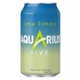 Bebida Isotónica Aquarius Vive bajo en calorías sabor lima limón lata 33 cl.