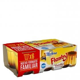 Flan de vainilla con caramelo Nestlé La Lechera pack de 6 unidades de 100 g.