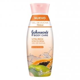 Gel de ducha Vita-Rich efecto seda con extracto de papaya