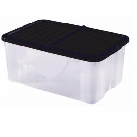 Caja de ordenación  de Polipropileno 39 x 59 x 25 cm  Translúcido