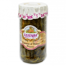 Espinacas al natural frasco Leyenda 440 g.
