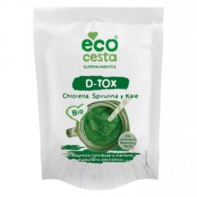 D-Tox Chlorella, spirulina y kale ecológico Ecocesta 175 g.