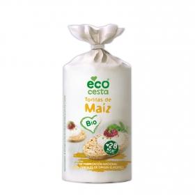 Tortitas de maíz ecológicas Ecocesta 120 g.