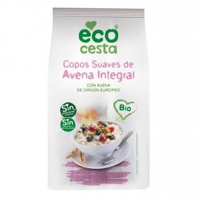 Copos suaves de avena  integral sin azúcares añadidos ecológicos Ecocesta 1 kg.