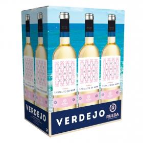 Vino D.O. Rueda blanco verdejo Caballito de Mar pack de 6 botellas de 75 cl.