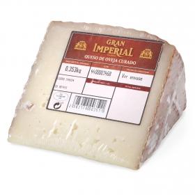 Queso curado de oveja El Gran Imperial cuña 1/8, 375 g aprox