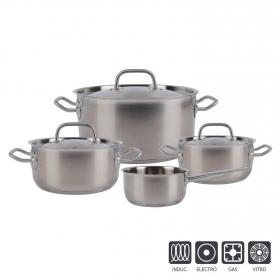 Bateria de Cocina de Acero Inoxidable SANPIETRO 7 piezas - Inox