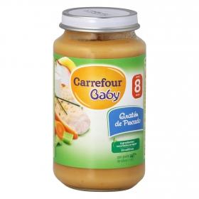 Tarrito de gratén de pescado desde 8 meses Carrefour Baby 250 g.