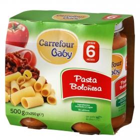 Tarrito de pasta boloñesa