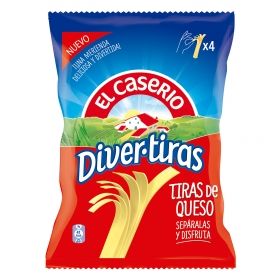 Tiras de queso Divertiras El Caserío 84 g.