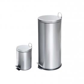 Cubo  de basura de Acero inoxidable   30+3 Litros - Metalizado