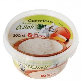 Salsa alioli Carrefour sin gluten envase 200 ml.