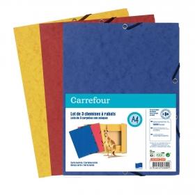 Carpetas con Gomas Folio Colores Surtidos