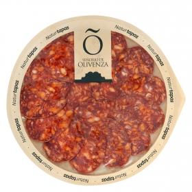 Chorizo ibérico de cebo loncheado Señorío de Olivenza envase 90 g
