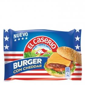 Queso burguer con cheddar El Caserío 185 g.