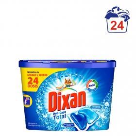 Detergente en cápsulas Duo-Caps Total Dixan 24 ud.