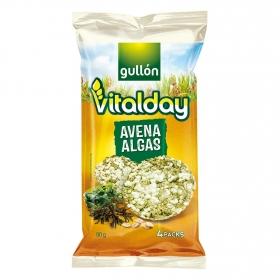 Tortitas de avena y algas Gullón Vitalday 90 g.