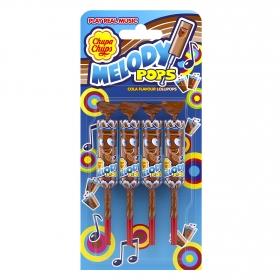 Caramelo con palo sabor cola Melody Pops Chupa Chups 4 ud.