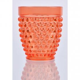 Vaso Acrílico Burbujas Coral