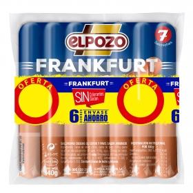 Salchichas Frankfurt El Pozo sin gluten 7 ud.