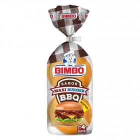 Pan de hamburguesa maxi bbq