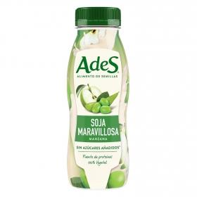 Bebida de soja con manzana sin azúcar añadido