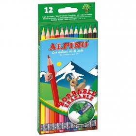 Estuche 12 Lápices Borrables Alpino