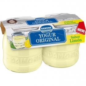 Yogur de limón Danone Original pack de 2 unidades de 135 g.