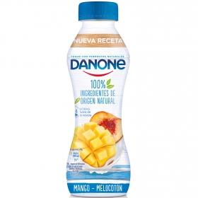 Yogur líquido de mango y melocotón 100% ingredientes naturales