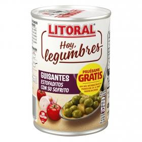 Guisantes estofados con sofrito Litoral sin gluten 420 g.
