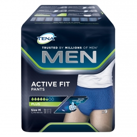 Pants Active Fit plus Mn talla M Tena 9 ud.