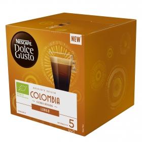 Café lungo Colombia ecológico en cápsulas Nescafé Dolce Gusto 12 unidades de 7 g.