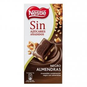 Chocolate negro 70% con almendras sin azúcar añadido Nestlé 125 g.