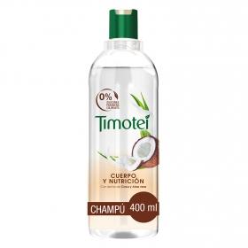 Champú cuerpo y nutrición con leche de coco y aloe vera Timotei 400 ml.
