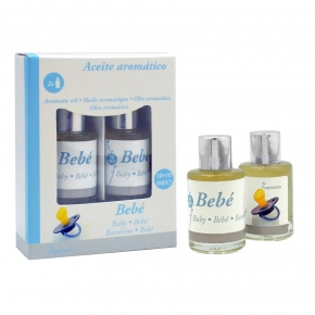 Set de 2 Botellas de Aceite Aromático 10 ml Bebé