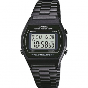 Reloj De Pulsera Casio B640 Digital Para Unisex Color Negro Correa Acero Inoxidable