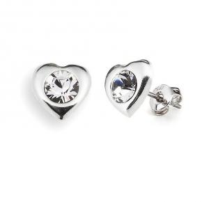 86b70258cf65 Vancrystals - Pendientes C-gardenia De Plata 925 Con Cristales De Swarovski