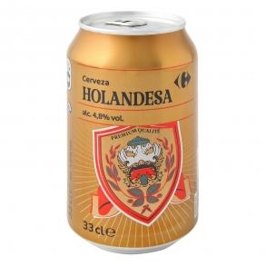 Cerveza Carrefour Holandesa lata 33 cl.