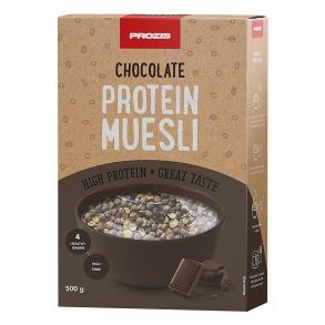 Muesli con chocolate alto en proteínas Prozis 500 g.