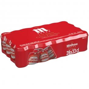 Cerveza Mahou 5 Estrellas especial pack de 28 latas de 33 cl.