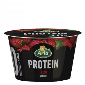 Yogur de queso fresco batido sabor fresa protein Arla  200 g.