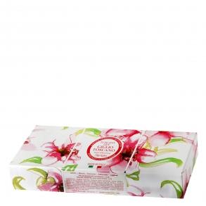 Caja de jabones Lirio de Toscana  pack 3x100 g.