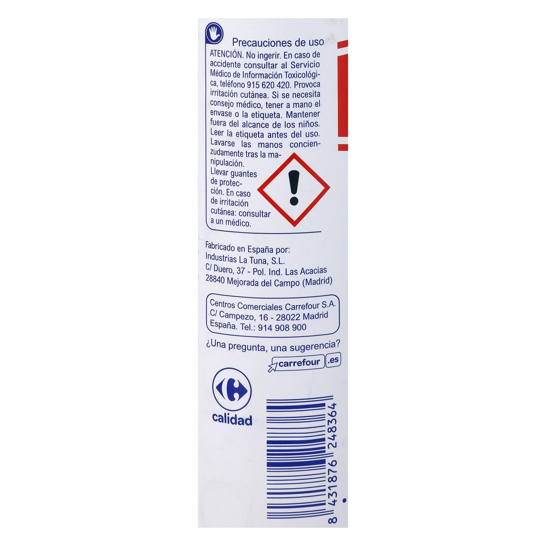 Amoniaco Muy Fuerte Con Detergente Carrefour Carrefour  ~ Limpiar Tapicerias Con Amoniaco