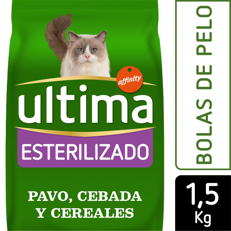 Alimento gato seco adulto esterilizado bola de pelo ultima - Alimento para gatos esterilizados ...