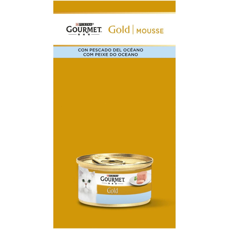 Comida para gatos Mousse Pescados del Oceano Surtido Gourmet Gold ...