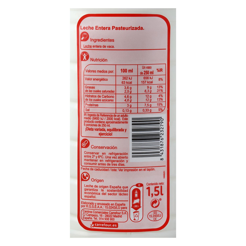 Leche fresca entera Carrefour - Carrefour supermercado compra online