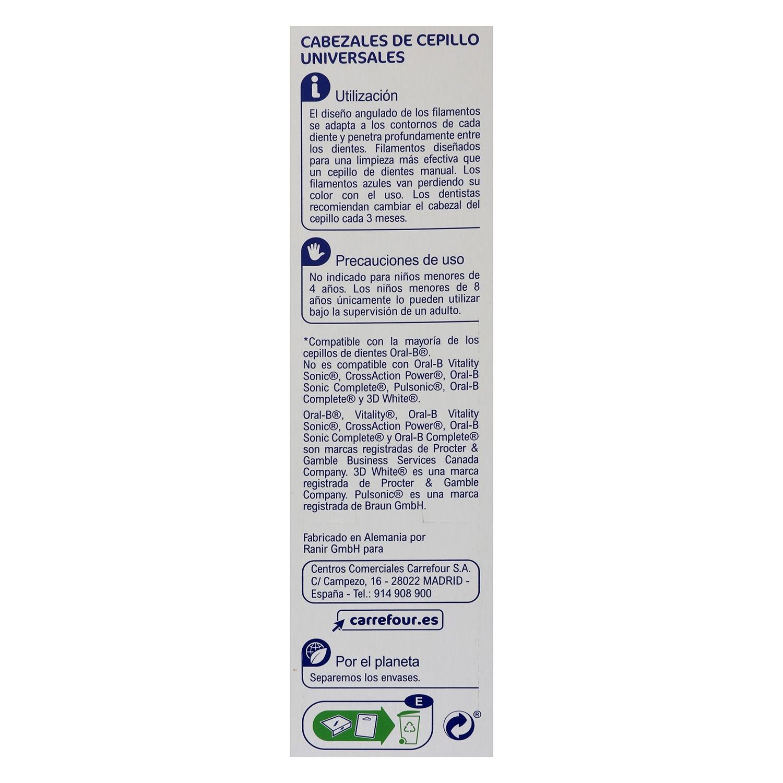 Recambio universal cepillo dental eléctrico Perfect Angle Carrefour ...