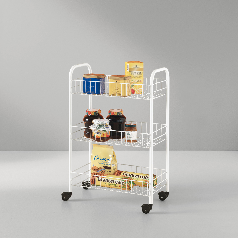 Carrito multiusos siena con ruedas metaltex carrefour - Carritos de cocina carrefour ...
