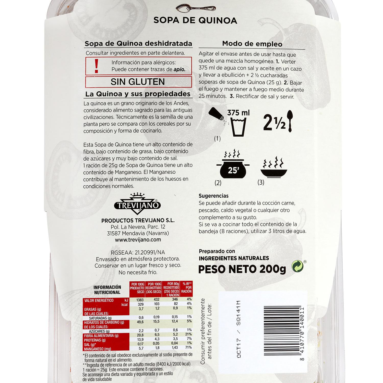 Sopa Quinoa deshidratada Trevijano - Carrefour supermercado compra ...